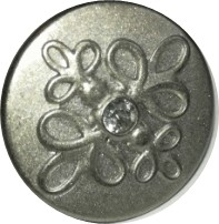 Farmergomb 17 mm, strasszkővel beüthető, 40 Ft / db ( 50 db)