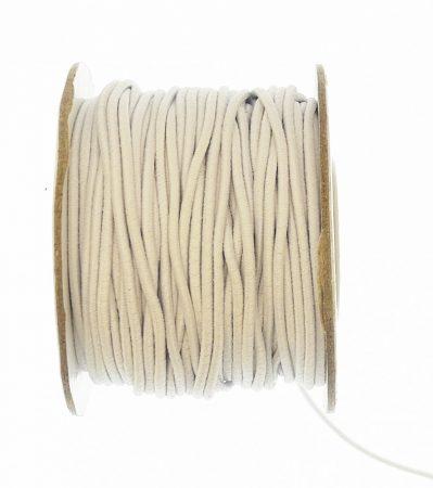 Gumizsinór hengeres, kalapgumi 1,5 mm, fehér színben, 40 Ft/m  (100 m)