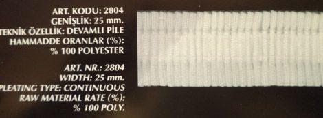 Függöny behúzó, 25 mm, folyamatos, Kód: 2804, 70 Ft / méter, (100 méteres)