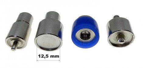 Kesztyűpatent nyomó fej/ aparát, 12,5 mm-es patenthez. 8000 Ft / szett.