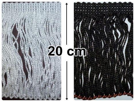 Táncruha rojt,  hurkos végű 20  cm-es,  1400 Ft/méter ( 10 méteres)