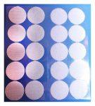 Öntapadó tépőzár korong, 35 mm, fehér 10 pár/lap