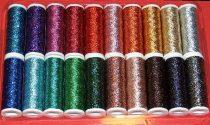Metalux Mix vegyes színes lurex kézi himző cérna, 100% fémszál.  265 Ft/db